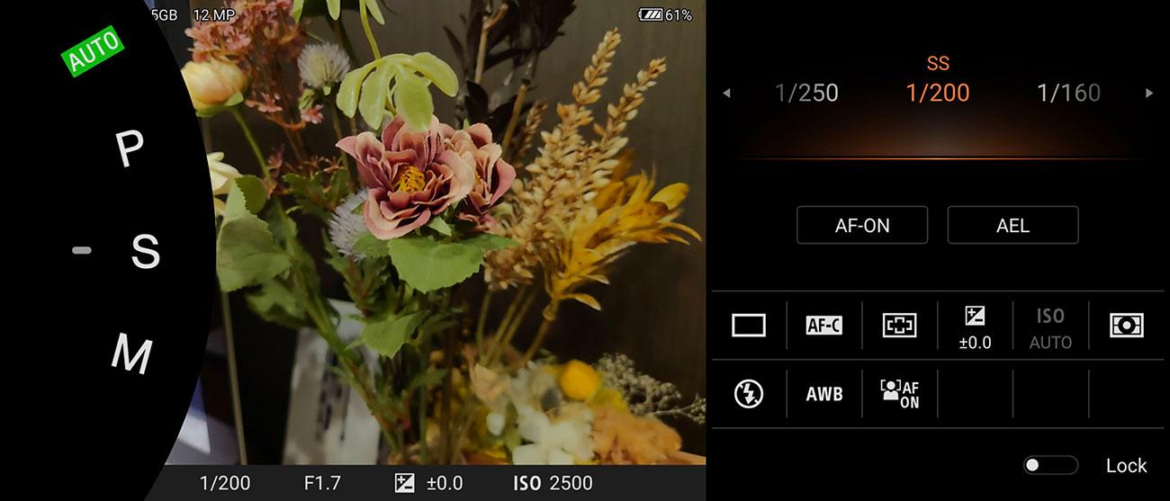 写真撮影専用アプリ