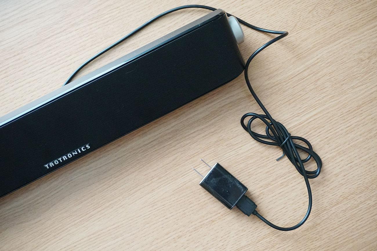 USB充電器が付属されていない