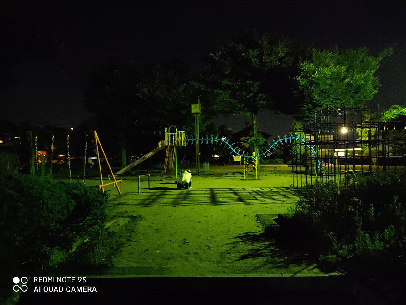 Redmi Note 9Sで夜景をオート撮影