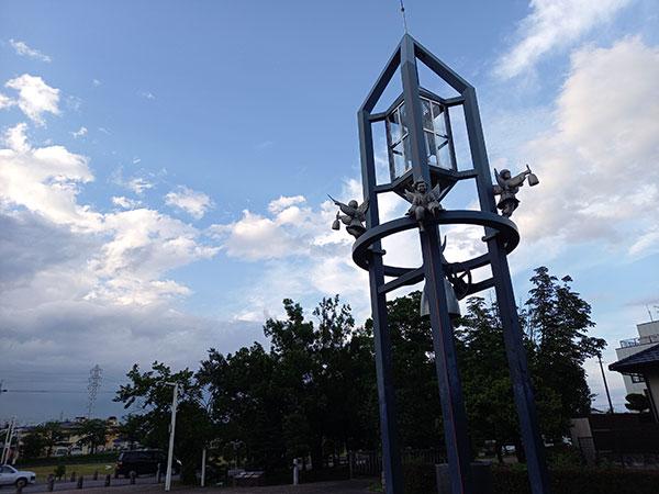 Galaxy A41の広角カメラで撮影した公園
