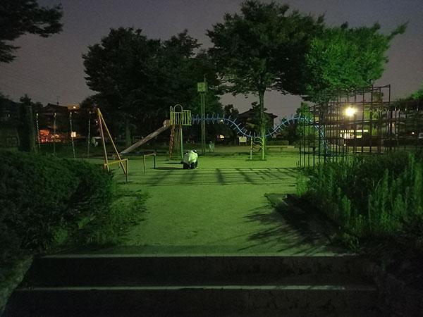 Galaxy A41の標準(AIオート)で撮影した夜間撮影