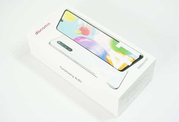 Galaxy A41のパッケージデザイン
