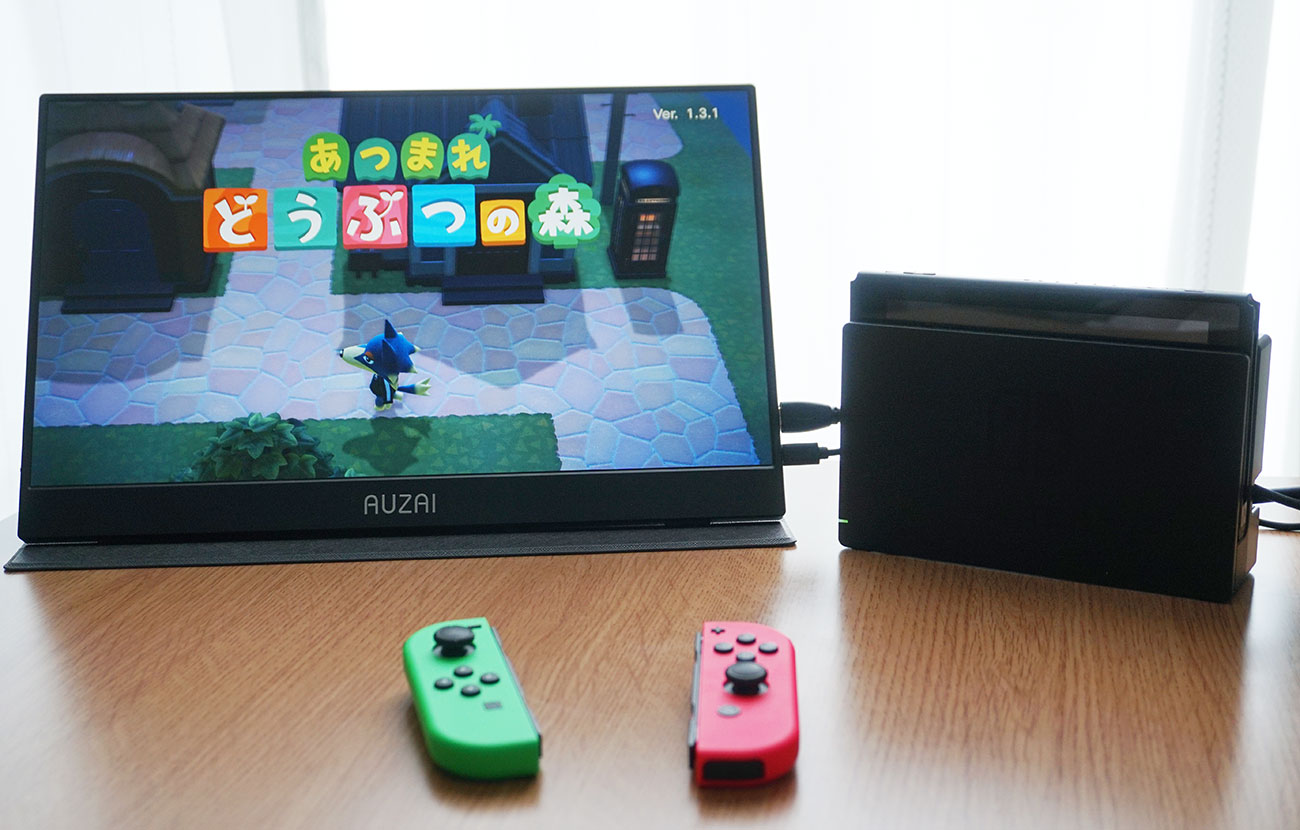 給電ケーブルを利用しつつ、Nintendo Switchと繋げます