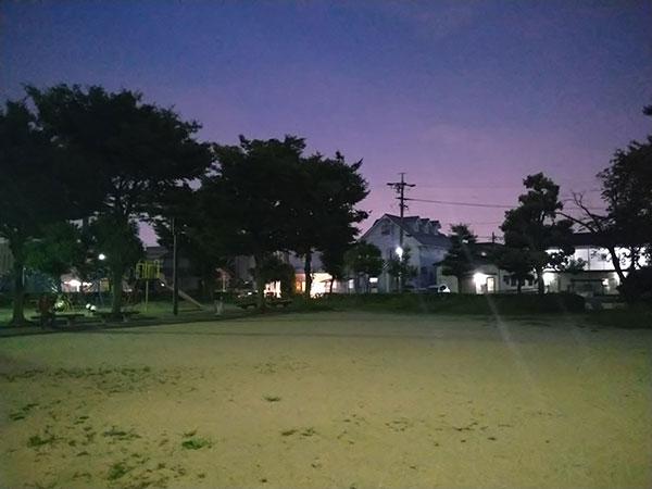 Xperia 10 IIの標準(AIオート)で撮影した夜景