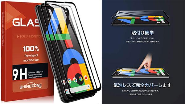 SHINEZONE Google Pixel 4a 全面ガラスフィルム