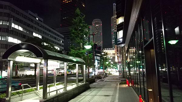 AQUOS sense3で撮影した夜景写真