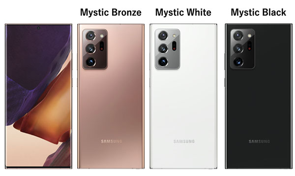 Galaxy Note20 Ultra 5Gの発売日と販売価格