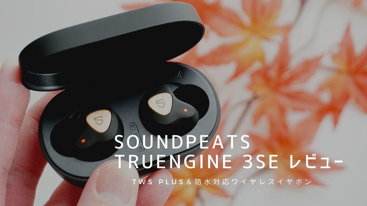 SOUNDPEATS Truengine 3SE レビュー|aptXコーデック&防水対応ワイヤレスイヤホン