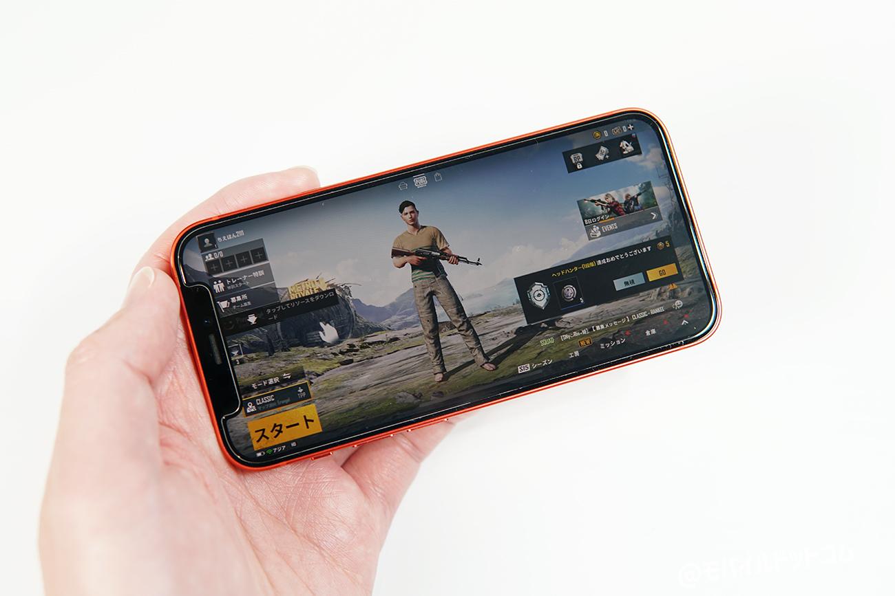 iPhone 12 miniでPUBGモバイルの動作チェック