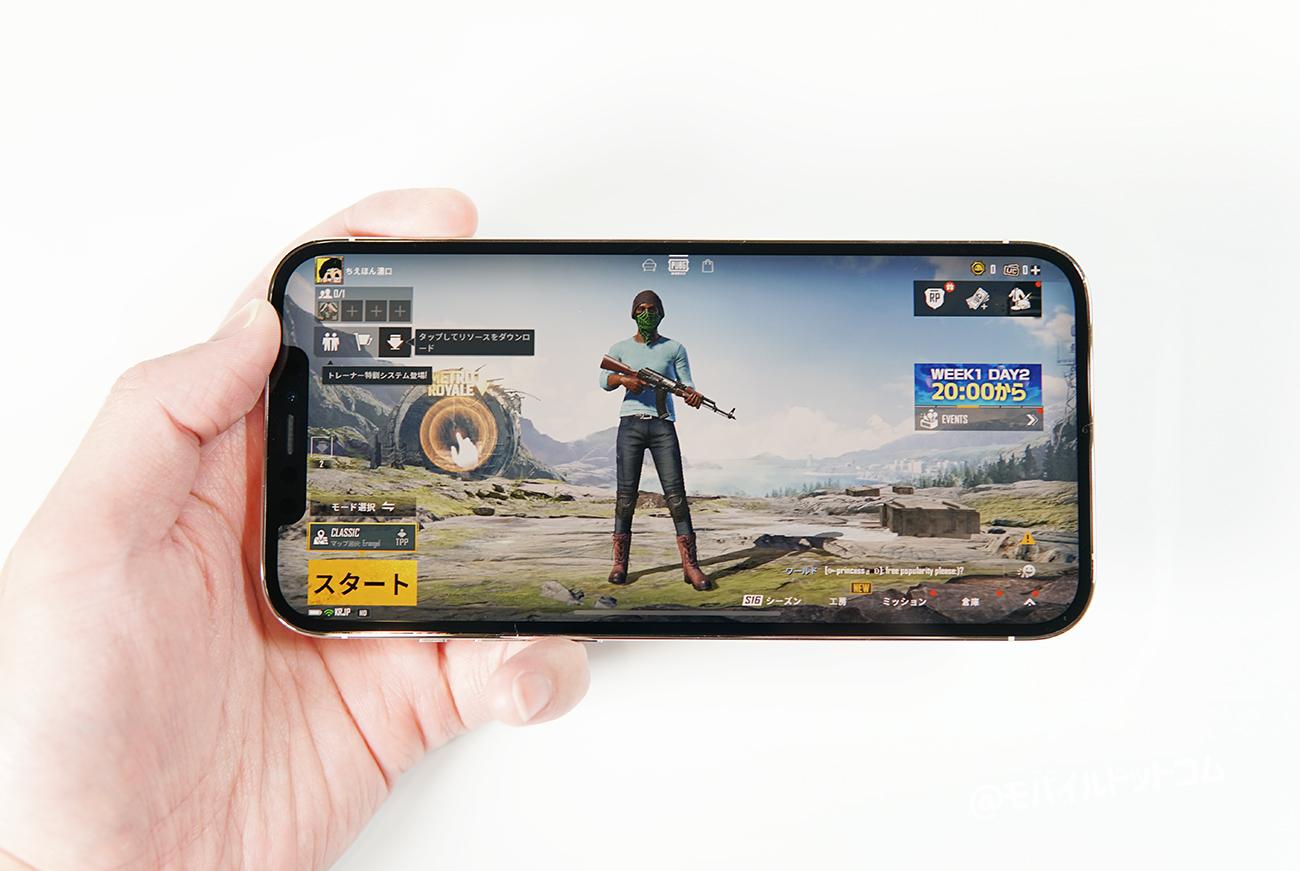 iPhone 12 Pro MaxでPUBGモバイルの動作チェック