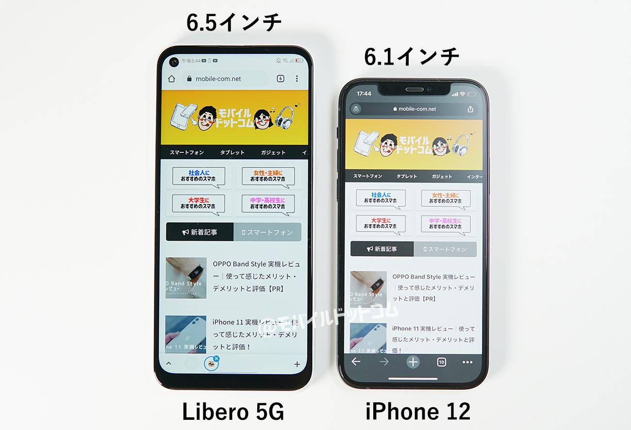 Libero 5Gの本体サイズ