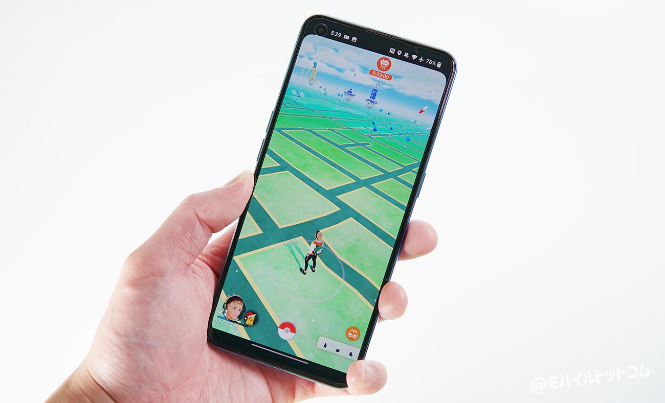 OnePlus Nord CE 5GでポケモンGOの動作チェック