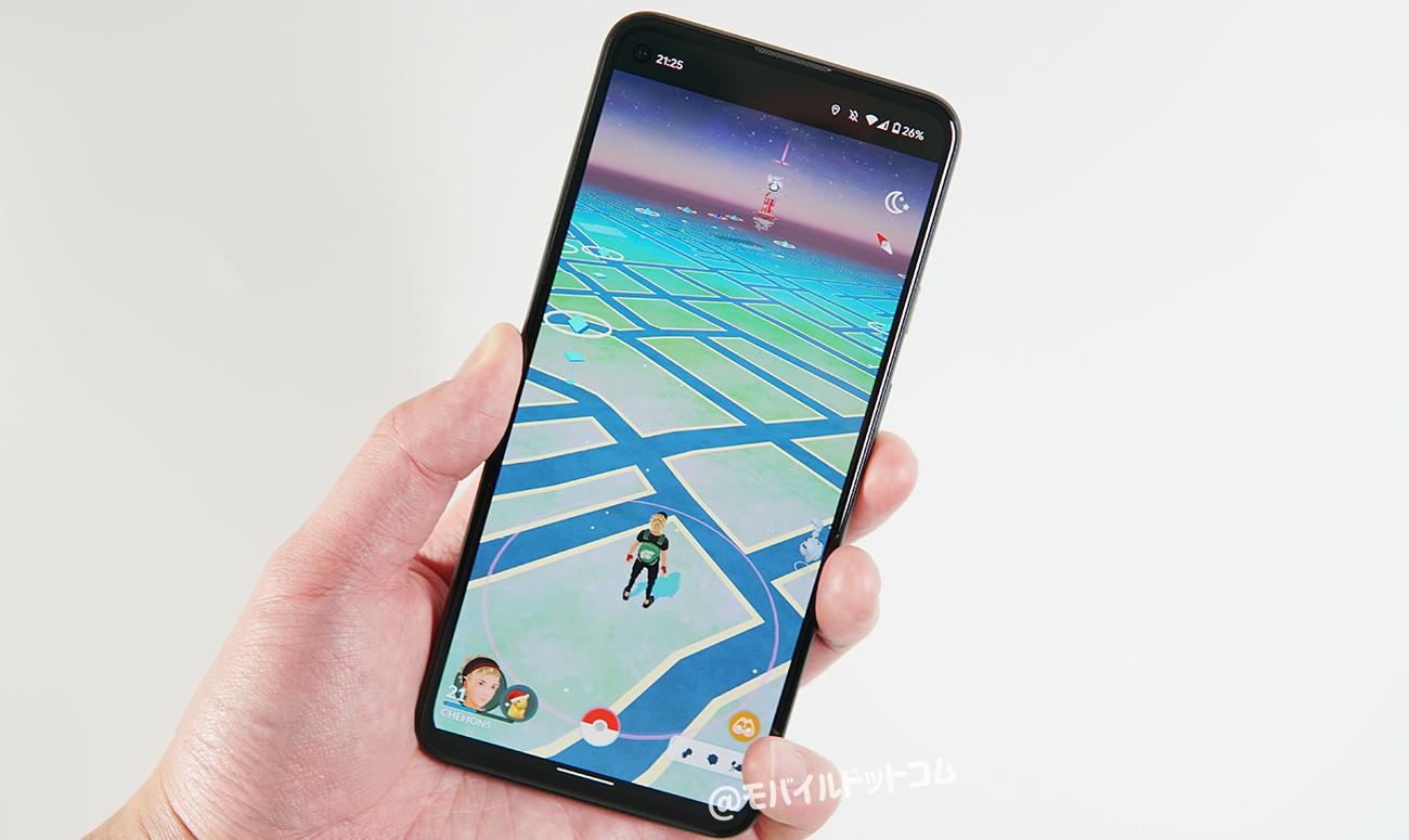 Google Pixel 5aでポケモンGOの動作チェック