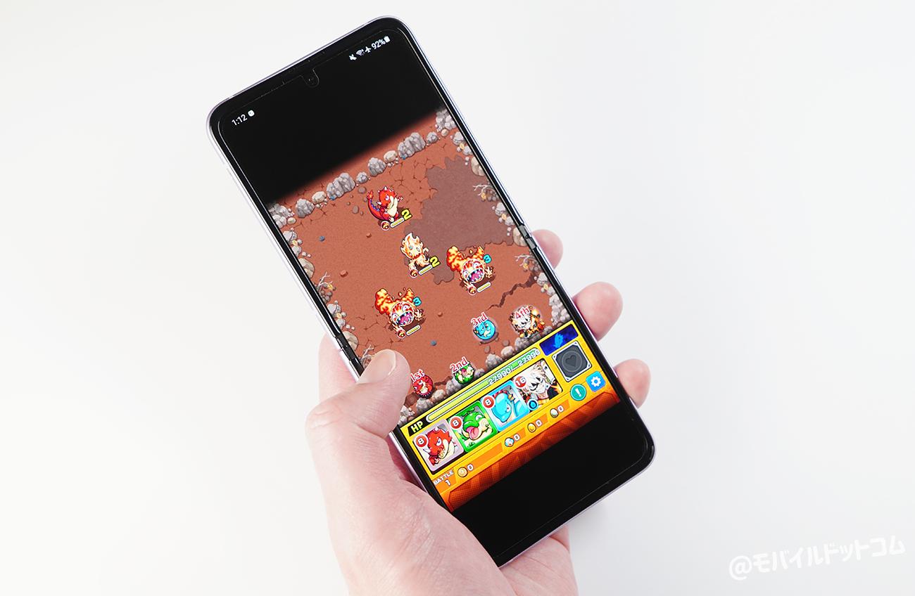 Galaxy Z Flip3 5Gでモンストの動作チェック