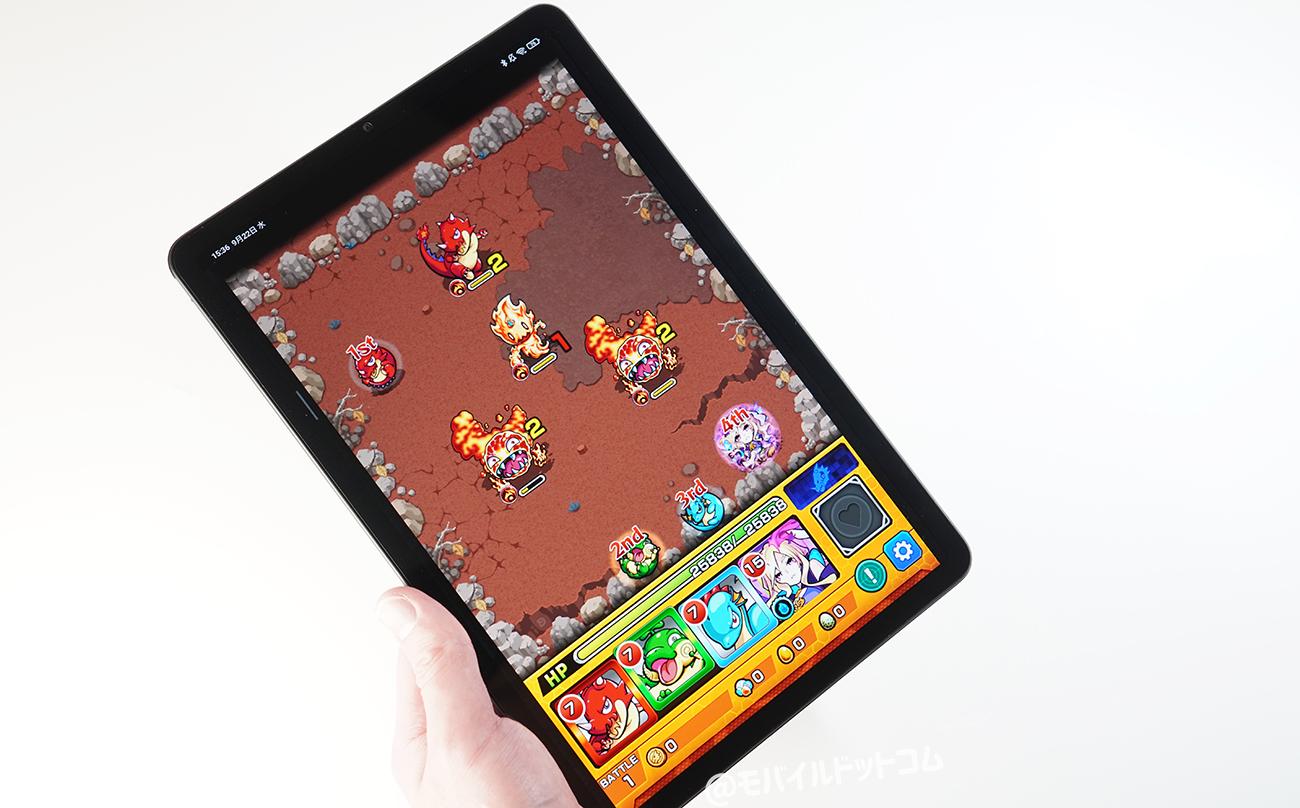 Xiaomi Pad 5でモンストの動作チェック
